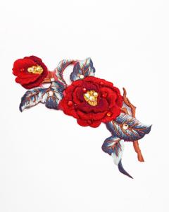 梅お花刺繍パッチ(レット)