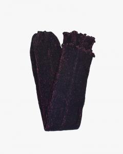 両面足ウォーマー-ブラック/チェリーピンク [Reversible Leg Warmer-Black / Cherry Pink]